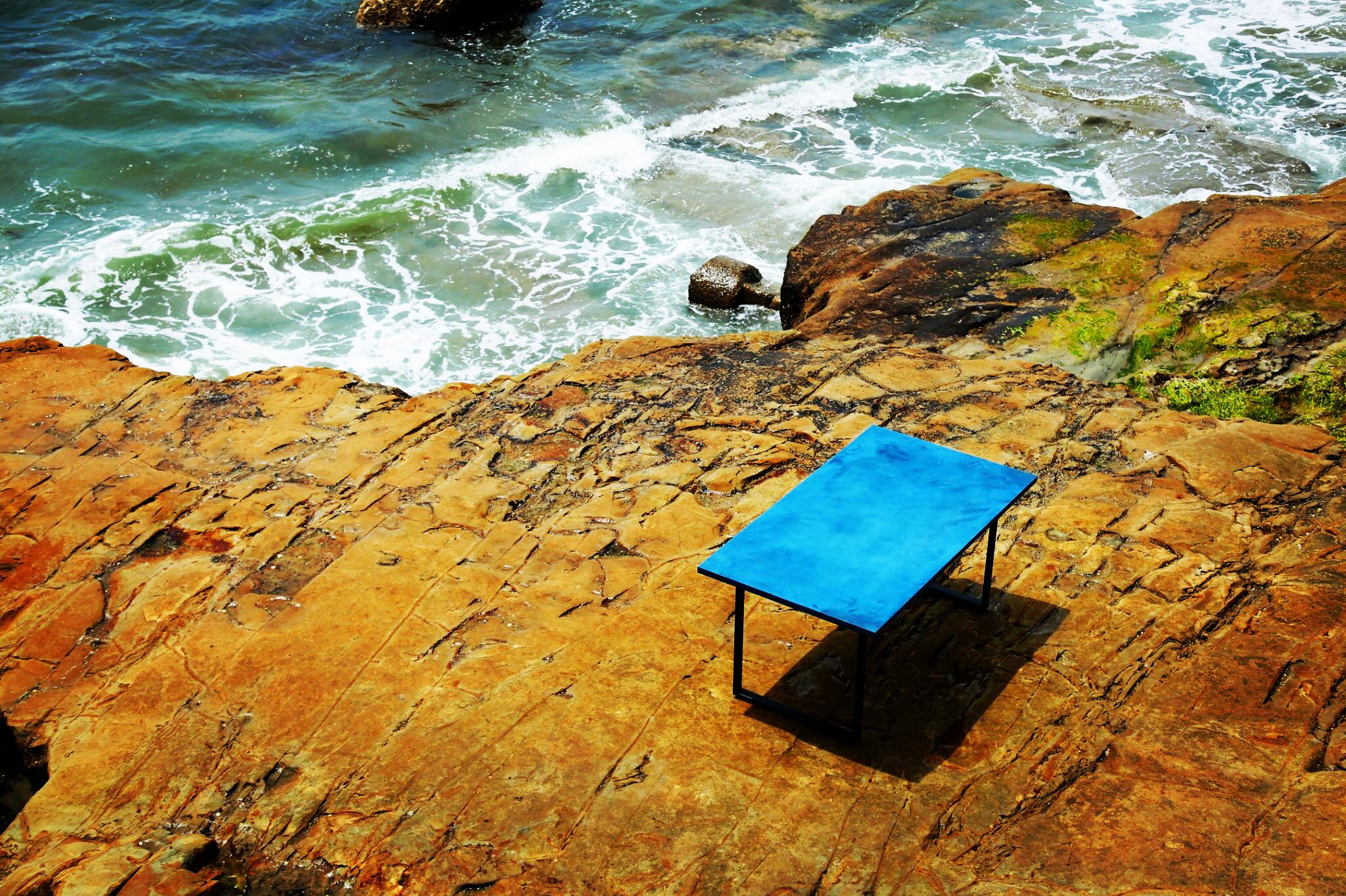 """Natural indigo""""EARTH TABLE"""""""