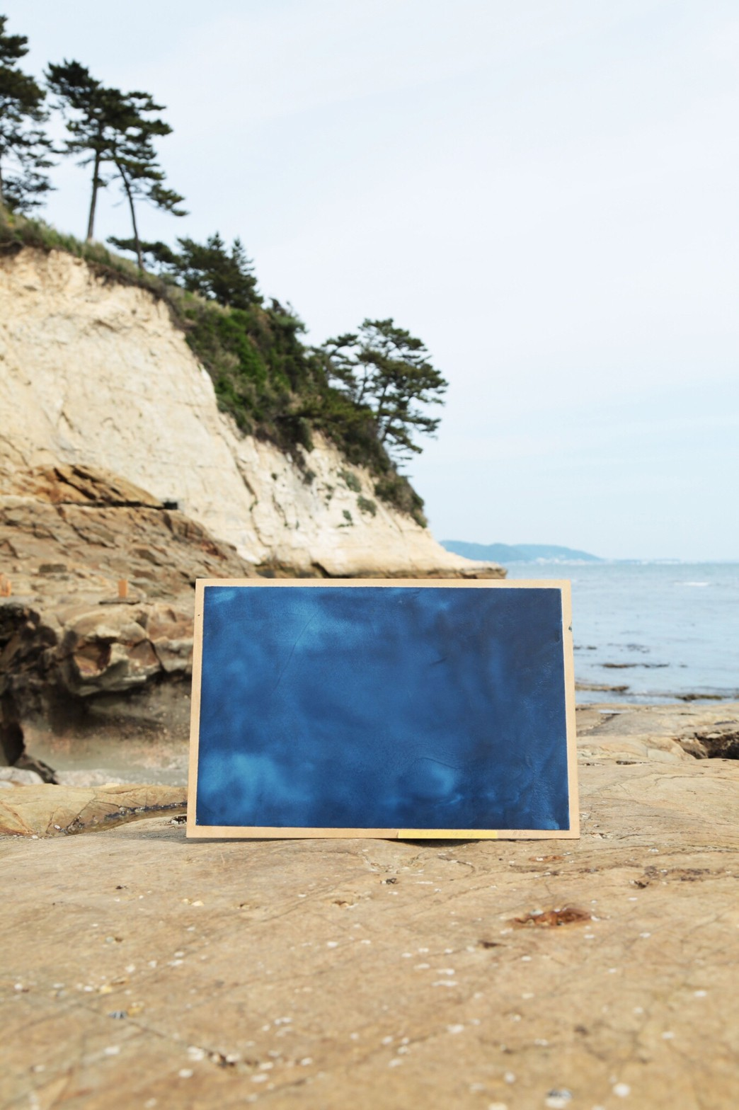 海辺と藍のアートパネル