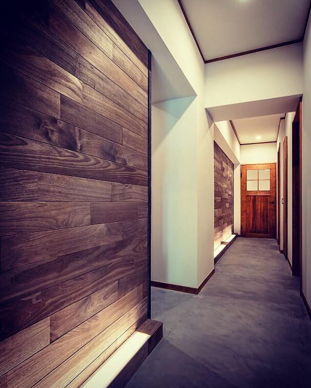 廊下での施工